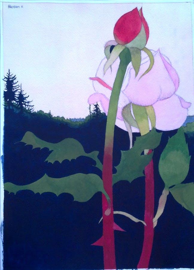 Painting by Art Hansen
