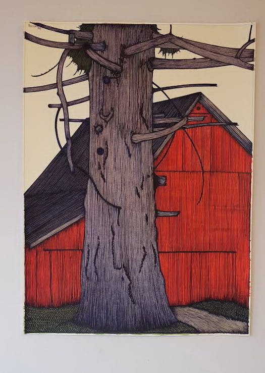 Painting by Art Hansen (1929-2017)