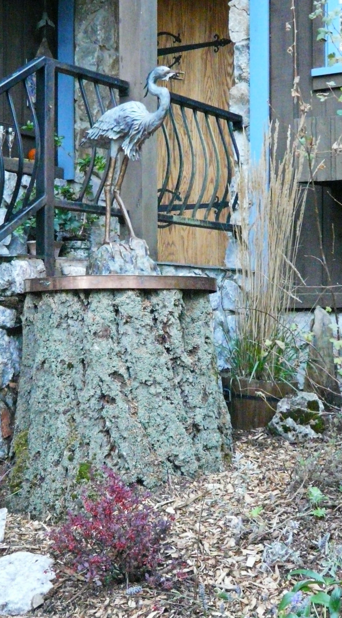 What to do with a dead stump by your main entrance...
