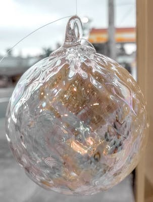 Transparent  facet ornament