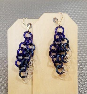 Small Blue Circle Earrings 20.0510