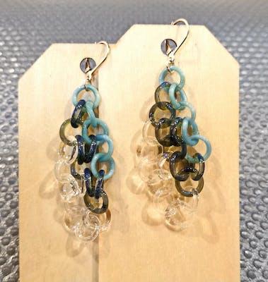 Small Aqua Circle Earrings 20.0513
