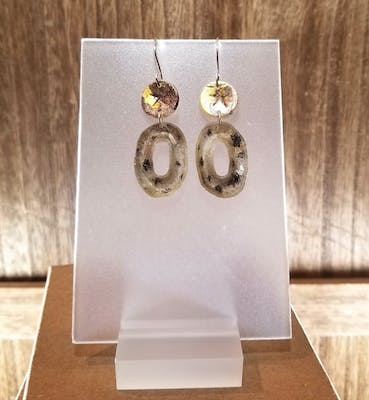 Polymer Gold and Silver Leaf Earrings 20.1108