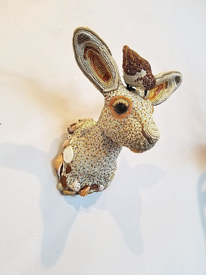 Sandpiper on a Bunny  - Side